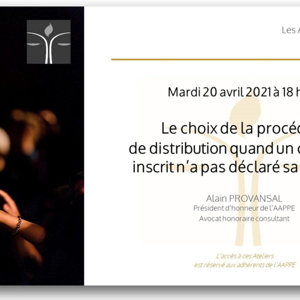 Atelier d'échange du 20 avril à 18 h 00